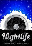 Nightlife Theme with Speaker poster