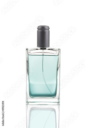 Elegant male perfume, isolated on white