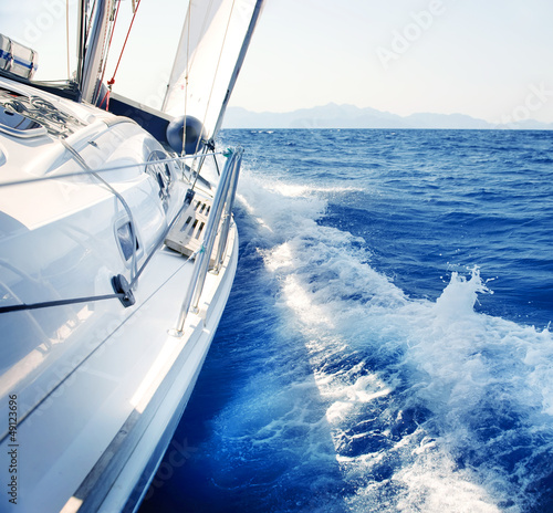 Yacht. Sailing. Yachting. Tourism. Luxury Lifestyle - 49123696