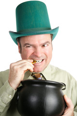 Leprechaun with His St Patricks Day Gold