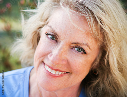 Closeup Portrait - Mature Blond Beauty