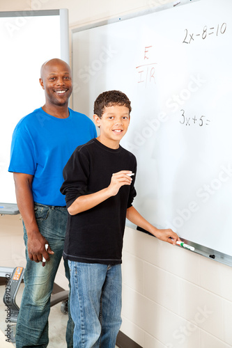 African American Teacher with Student