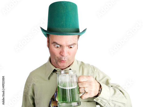 Drunk With Green Beer on St Patricks Day