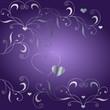 Hintergrund mit silbernen Herzen und Ornamenten