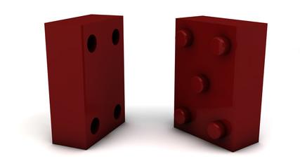 Fichas de domino en equipo