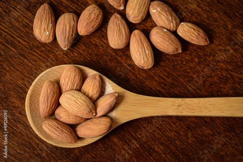 Wooden Spoon with Almonds