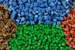 tinted plastic pellets