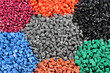Leinwandbild Motiv several dyed polymers