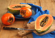 Papaya and persimmon