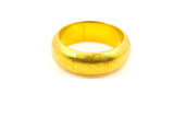 Close Up Gold ring isolated on the white background.
