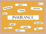 Insurance Corkboard Word Concept