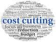 Focus on costs cutting concept