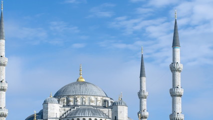 Sultan Ahmed (Blue) Mosque time-lapse. Istanbul, Turkey. Zooming