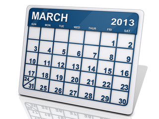 Month of March 2013