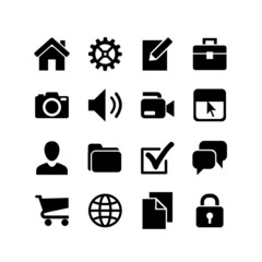 16 Basic Icons. Website Iconset