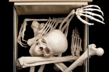 Skeleton in drawer