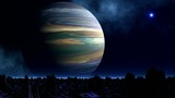 Huge planet and UFO
