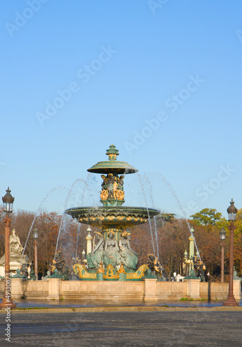 famous fountain on Plac de la Concorde, Paris
