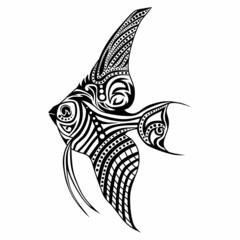 Tribal fish / vector tattoo