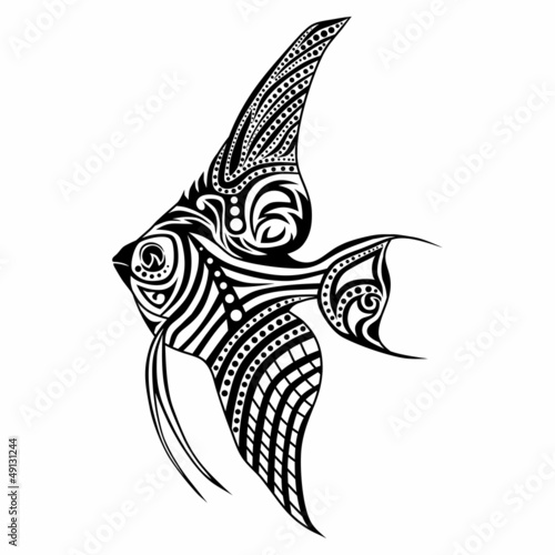 Tribal fish / vector tattoo