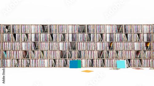 Leinwanddruck Bild Vinyl Schallplattensammlung Platten