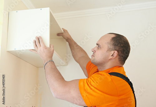 Kitchen cabinet installation work