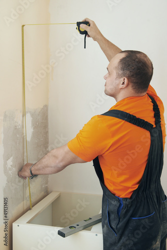 Kitchen installation service man