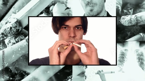 quit smoking, collage