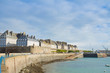 coast line in old town, Saint Malo, Brittany, France