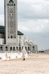 The Hassan II. mosque in Casablanca, Morocco