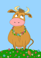 Beauty cow, without gradients