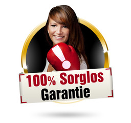 100% sorglos-garantie button gold