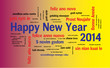 WEB ART DESIGN 2014 HAPPY NEW YEAR CELEBRATION TAG CLOUD 050