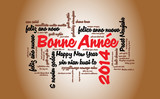 WEB ART DESIGN CARTE BONNE ANNEE 2014 TAG CLOUD 130