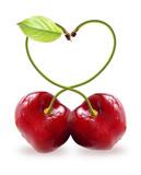 Heart symbol cherry