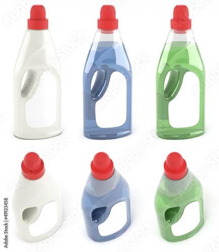 Packing of fabric softener different colored