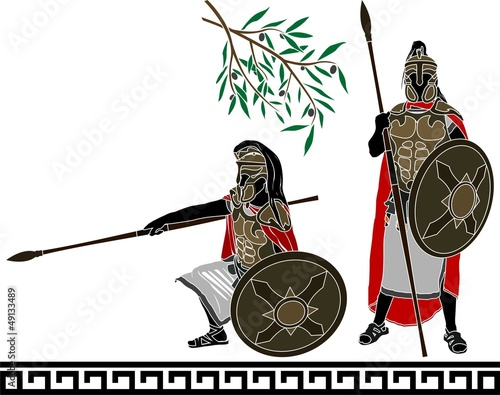 ancient hellenic warriors. second variant