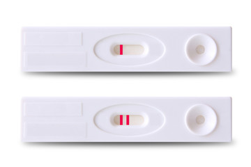 Positive and negative pregnancy tests