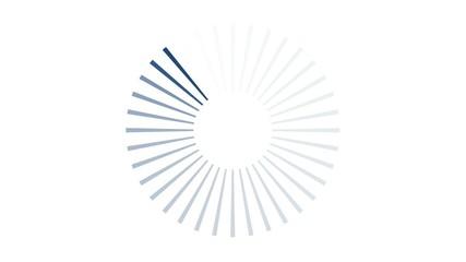 Attente - bleu foncé