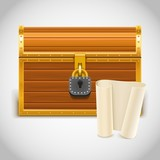 empty treasure chest vector icon xxl