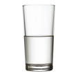 tall half full glass of water isolated on white clipping path in - 49135811
