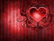 Walentynkowe tło z gotyckim sercem