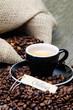 kaffeetasse mit chillout-schildchen