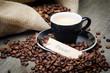 kaffeetasse mit pause-schildchen