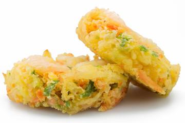 Japanese tempura isolated on white background