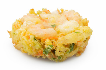 Japanese tempura isolated on white background