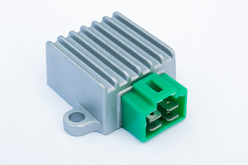 relays on a white background