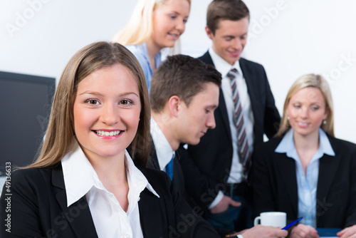 gruppe in einer besprechung