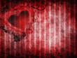Czerwone walentynkowe tło z sercem