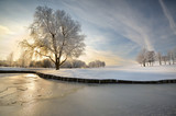 Fototapety winter lake